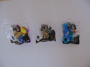 McDonalds 2017 HAPPY MEAL TOYS DESPICABLE ME 3 – Lot of 3 - NEW