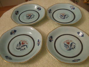OLD VINTAGE ENGLISH-MADE GEORGIAN by ADAMS CHINA SAUCERS
