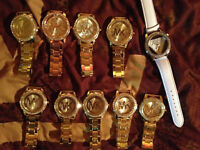 10 MONTRES LOT ONLY MK GUESS