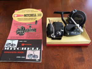 Vintage Garcia Mitchell 300 Spinning Fishing Reel,  Manual & Box