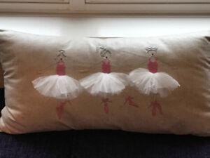 Ballerinas in TuTu's Lumbar Decorative Pillow from Pottery Barn