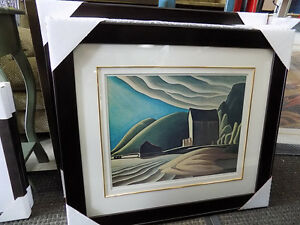 Picture Lake Superior Lawren Harris Signed and #'d 727-5344 St. John's Newfoundland image 2