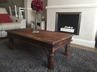 Rustic coffee table (furniture/bespoke/farmhouse/shabby chic/living/dining)