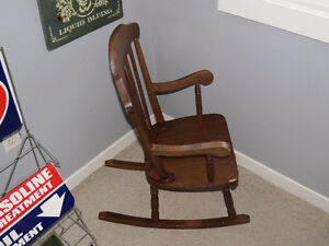 """Child's Wooden Rocking Chair """"HFX Hoarders and Collectors"""""""