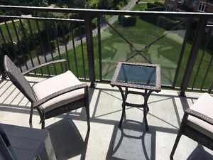 Patio furniture set - 2 chairs and a table
