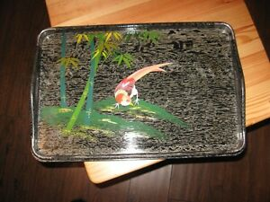 SERVING TRAY - VINTAGE - HAND PAINTED - REDUCED!!!!