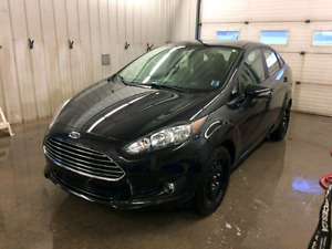 Black 2015 ford fiesta