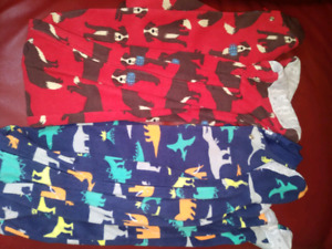 CARTERS Kids 5T FOOTED FLEECE PJ'S X2 $10 TAKES BOTH