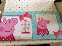 Peppa Pig Canvas set from Next