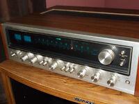 VINTAGE AMP/SPEAKERS/5 DISC PLAYER