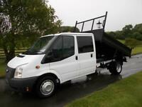 FORD TRANSIT 350 100PS DOUBLECAB TIPPER 64 REG 61,000 MILES SIX SPEED