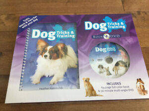 DOG TRICKS AND TRAINING BOOK WITH DVD
