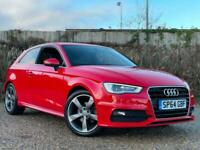 AUDI A3 S-LINE 1.4 TFSI ROTA ALLOYS FREE DELIVERY*BTOOTH+BELT DONE+18s+LTHER