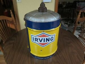 old 5 gallon Irving can