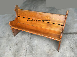 Antique church pews