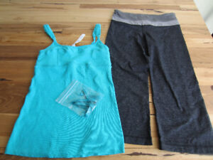 Lululemon Three Quarter length Yoga Pants and Tank Top