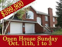 Open House Oct.11th - Reduced from $419,900