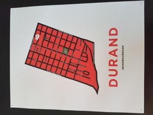 Durand neighbourhood poster by Jelly Bros  (frame not included)