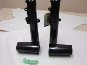 (New) Harley-Davidson powder coated fork sliders w cover / #5136
