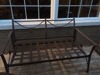 Patio couch with chairs and table