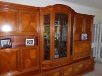 Italian style display and storage cabinet