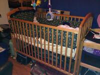 wooden crib,