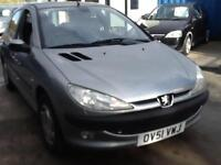 Peugeot 206 1.6 ( dig a/c ) 2001MY GLX NEW MOT 5 DOOR