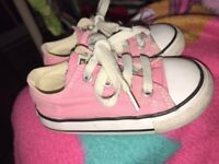 Baby pink converse size 6 (infant)