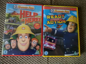 2 x Fireman Sam DVDs - Help is Here and Ready for Action
