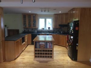 Birch Kitchen Cabinets, Island, Counter For Sale (NOW REDUCED!)