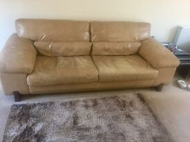 Large 4 Seater Leather Sofa - Offers Accepted