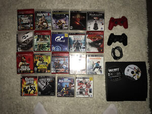 Ps3 with 21 games, 2 controllers