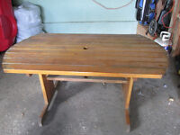 Cedar Table and Two Benches