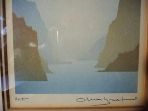 "Mountain Silhouettes by Peter, Traudl Markgraf ""Inlet"" Signed Stratford Kitchener Area image 5"