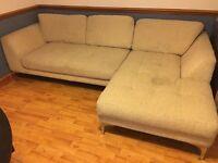 Large beige corner sofa