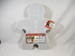 GINGERBREAD MAN HOLIDAY SNACK PLATTER TRAY WITH LID