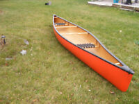 ABS and Fiberglass composite canoe