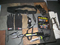 Scuba gear-ScubaPro Mk15,knives,lamps,boots,gloves,back pack NEW