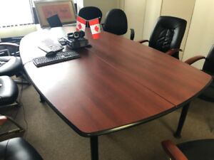Conference room table for sale.