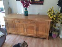 Solid oak side board for sale