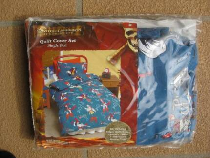 PIRATES OF THE CARIBBEAN NEW SINGLE QUILT COVER SET (RRP$49.95) Bridgeman Downs Brisbane North East Preview