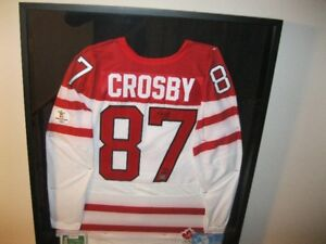 Autographed Signed Sidney Crosby Frameworth 2010 Olympic Jersey
