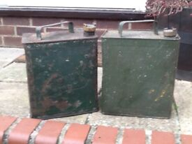 Old petrol cans