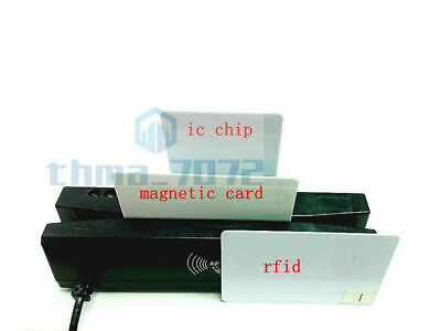 4-in-1 Card Reader Writer Encoder Support Magneticemv Ic Chiprfidpsam