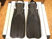 Tusa Platina L-XL dive/ diving fins flippers