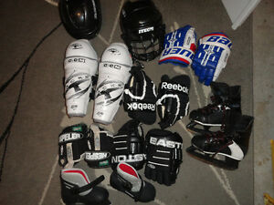 Jr Hockey Equipment Helmets, Gloves, Shin Pads & Skates
