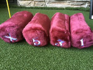 4 x Fur Head Covers