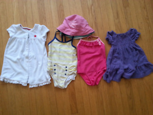 12 Month Girls Swim Suit Lot