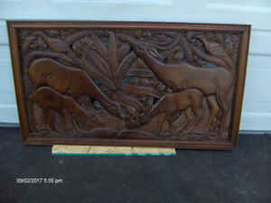 Wild life  wood carving