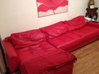Free, large leather sofa and chair